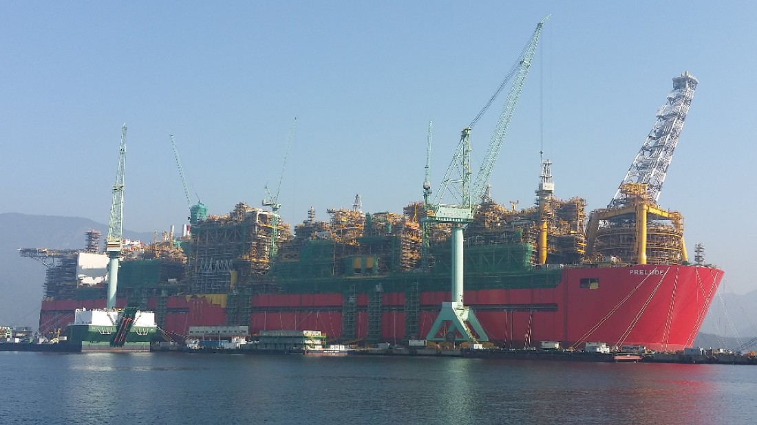 Prelude FLNG — самое большое судно на планете