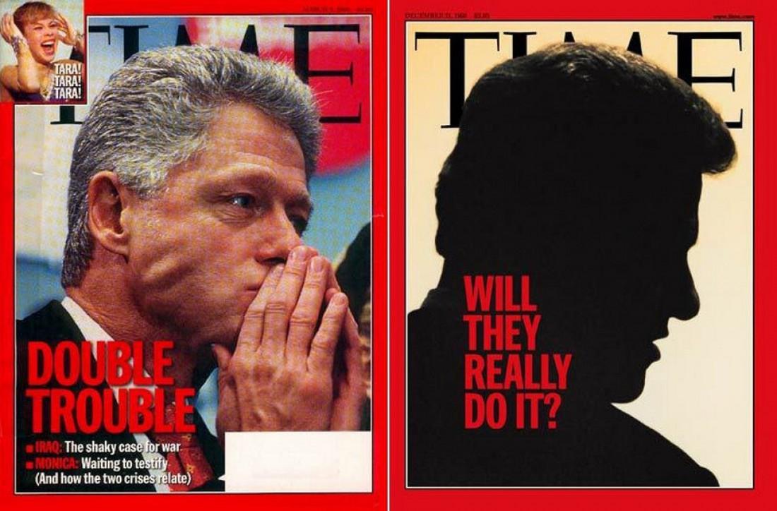 Билл Клинтон тоже дважды был рогатым на обложке Time