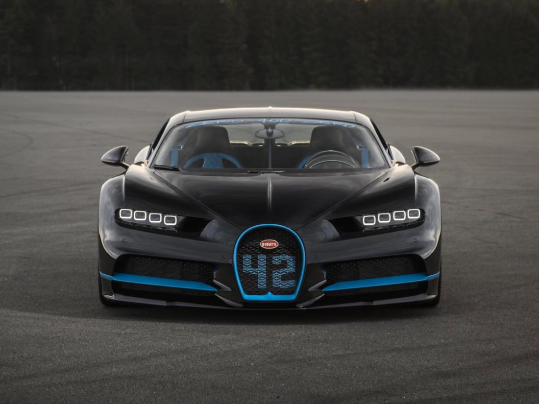 Очередной рекорд устанавливал Bugatti Chiron стоковой комплектации