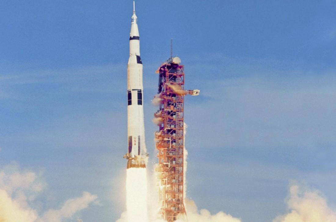 Saturn V — одна из ракет, побывавших на Луне