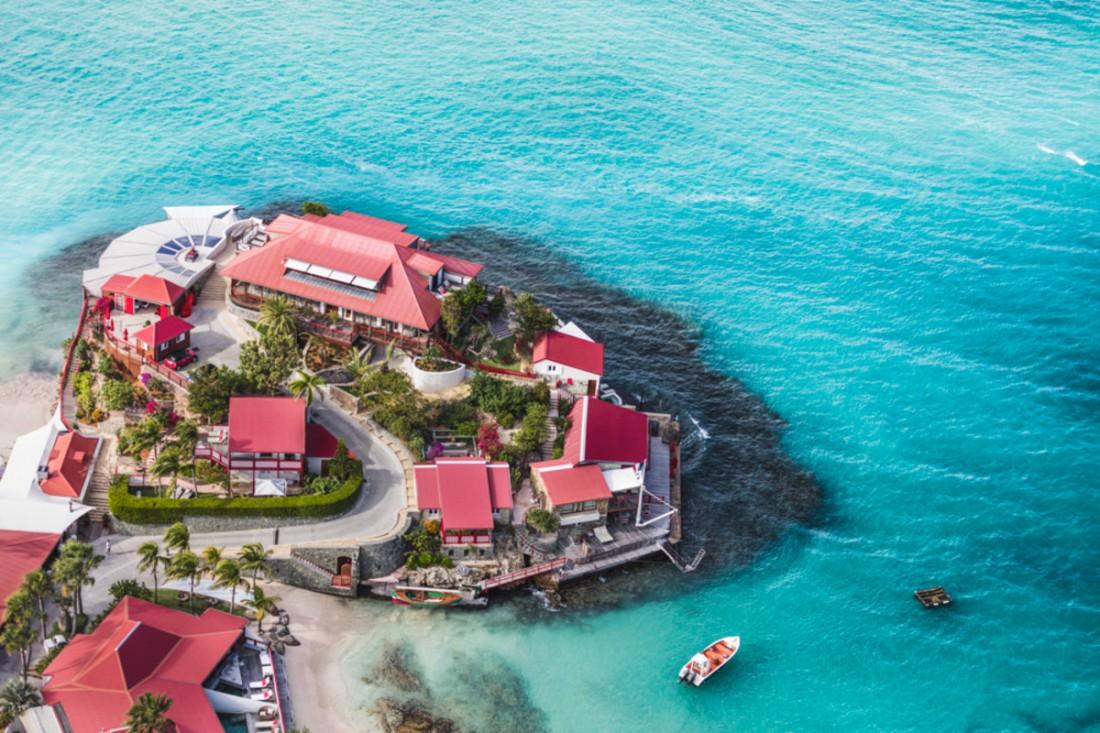 Пляж отеля Eden Rock на острове Сен-Барт