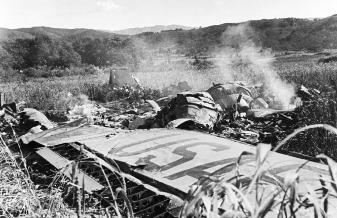 Обломки американского передового реактивного всепогодного перехватчика F-94