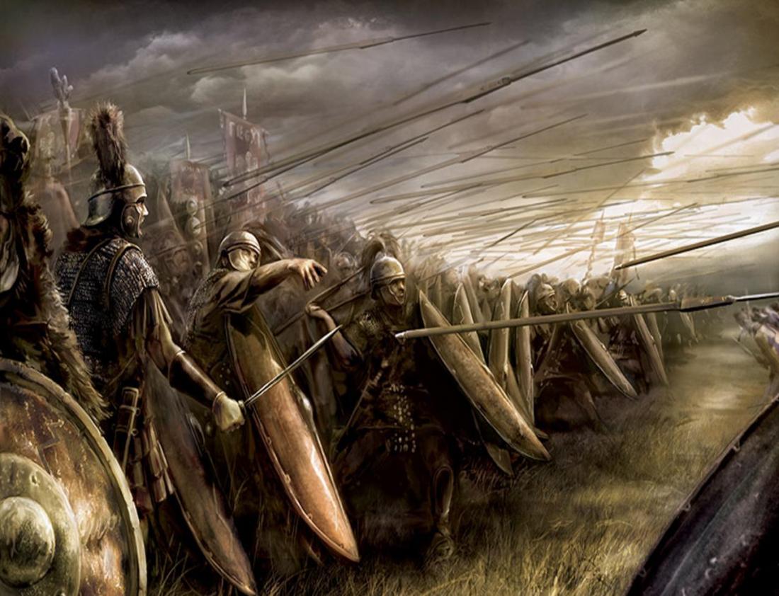 Древние римляне на поле боя кричали