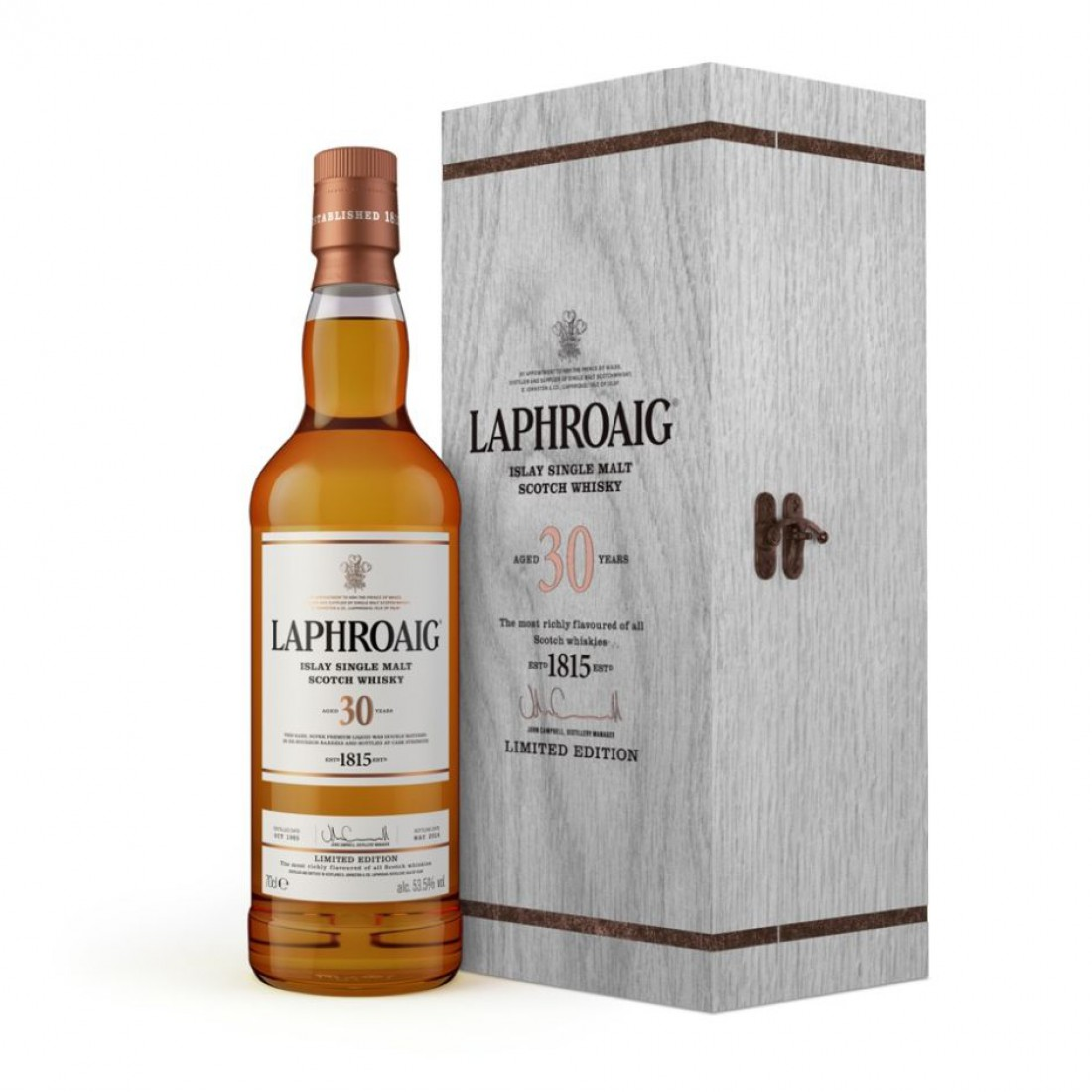 Laphroaig 30 — $1,000