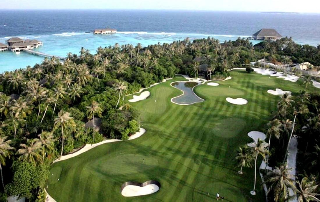 Velaa Golf Academy. Вид сверху