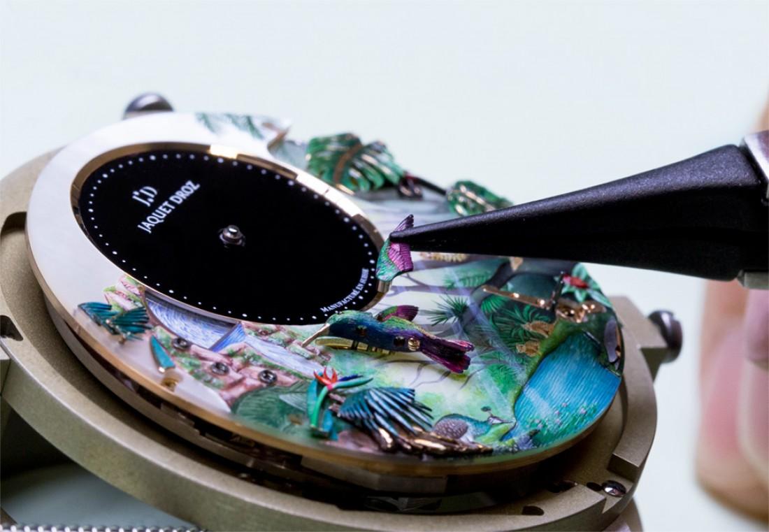 Tropical Bird Repeater — часы с театральным представлением на циферблате