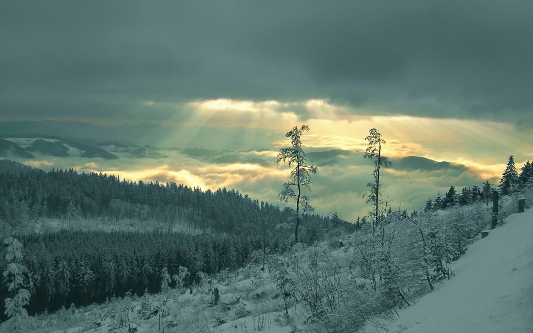 Просто красивое фото. Ядерная зима будет не такой