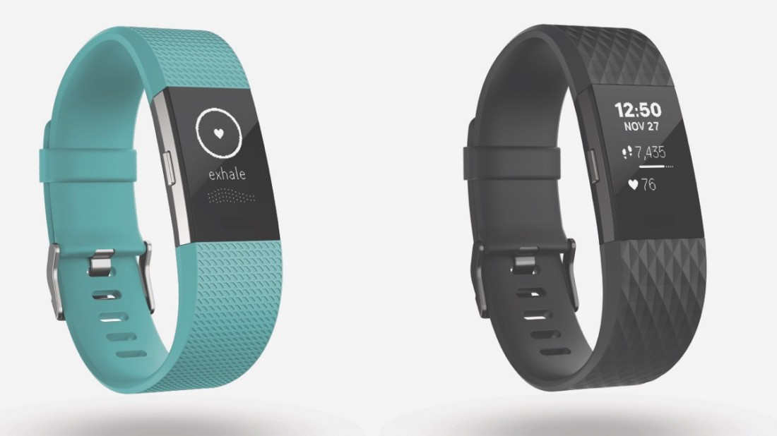 Фитнес-трекер и пульсометр Fitbit Charge 2 and Flex 2
