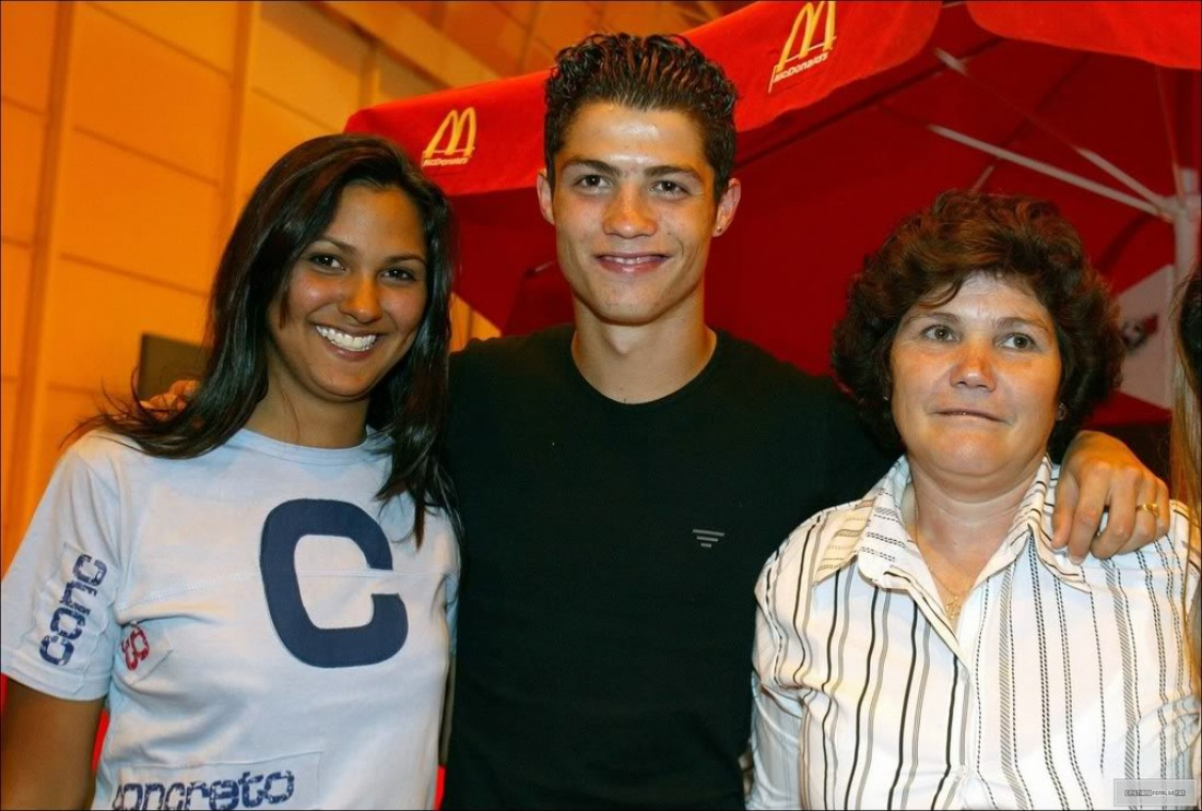Жордана, Криштиану и его мама