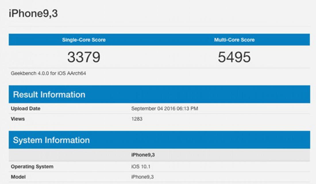 IPhone 7 Plus на базе A10 протестирован в Geekbench