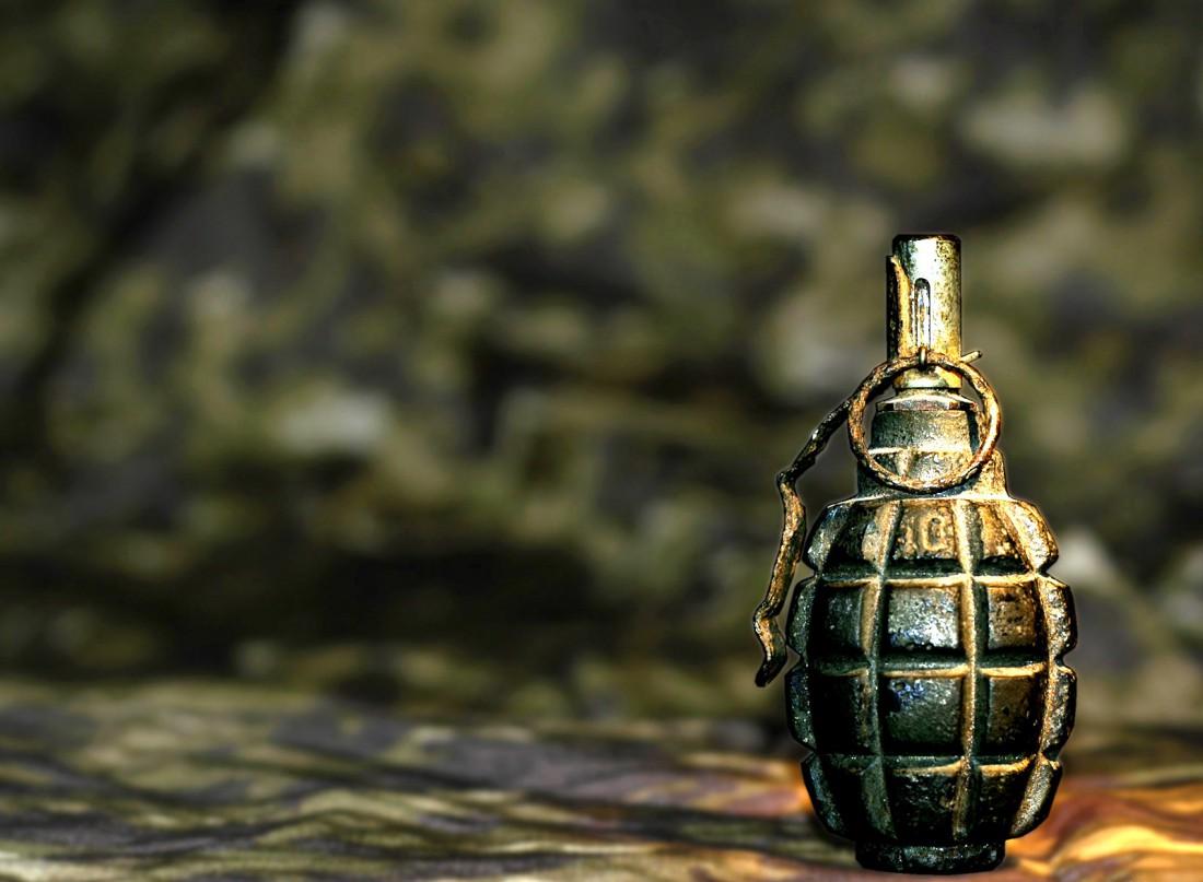 Ручная граната Ф-1. Одна из тех, которую взрывали