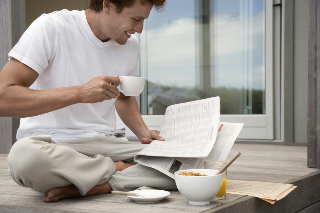 Кто рано встает, у того есть время почитать полезную литературу