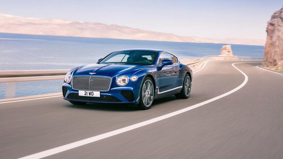 Максимальная скорость Bentley Continental GT 2018 — 333 км / час