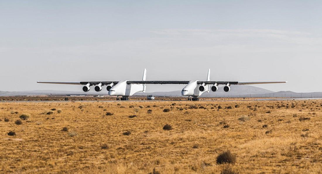 Stratolaunch Model 351 максимум в воздух может поднять 590 000 кг