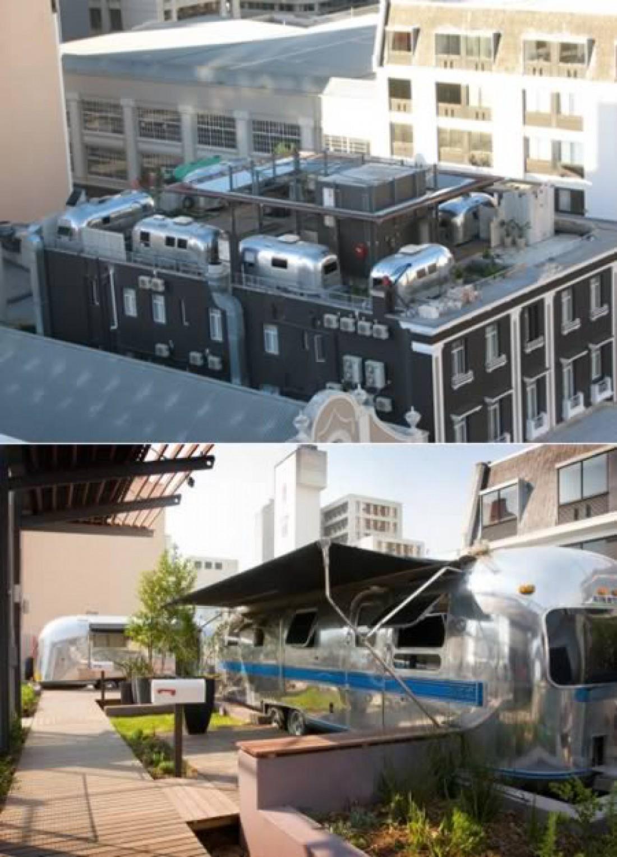 Изюминка отеля The Grand Daddy — трейлеры, расположенные на крыше