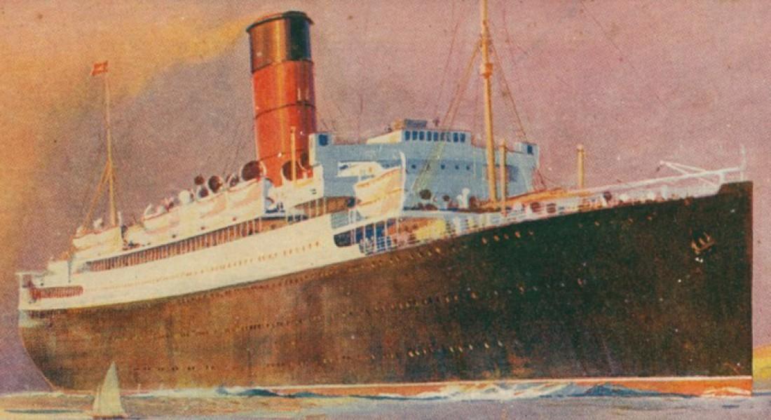 Ланкастрия. Еще одно судно, разбомбленное нацисткой авиацией