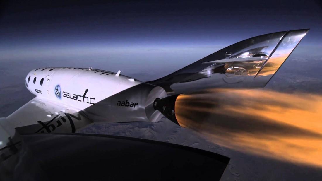 Космолет Virgin Galactic - компании, которая сегодня готовится устраивать путешествия по космосу