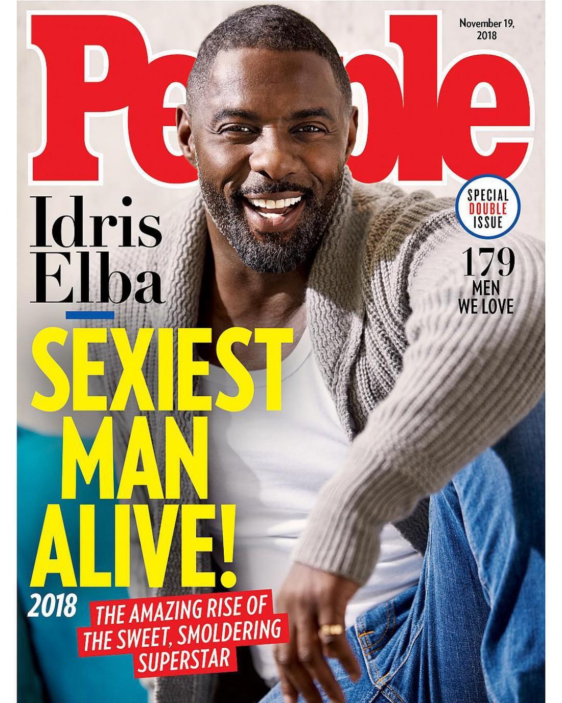 Идрис Эльба на обложке журнала People