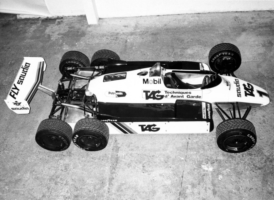 Williams FW08B. Последний 6-колесный болид, гонявший на Ф-1