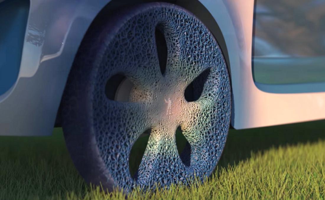 Так выглядят вечные шины от торговой марки Michelin