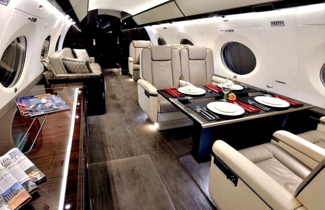 Салон люксового авиалайнера Gulfstream G650