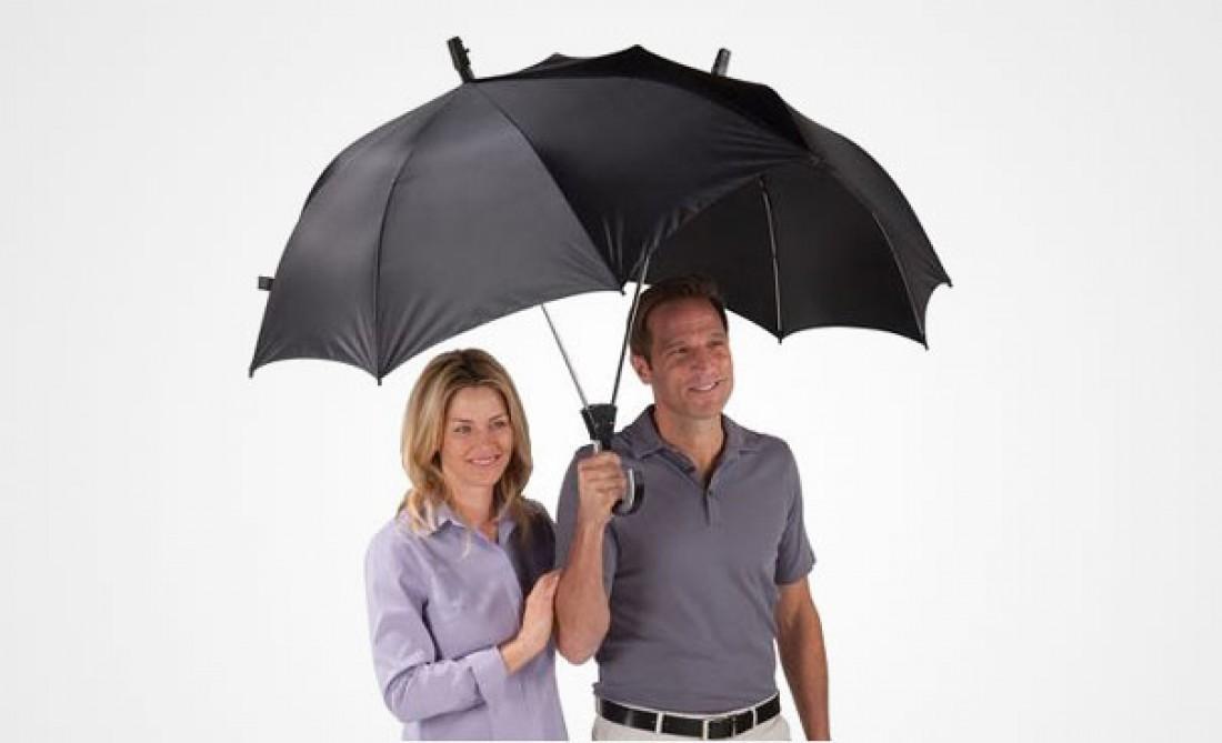 Двойной зонт Dualbrella — чтобы ты гулял под дождем со своей женщиной