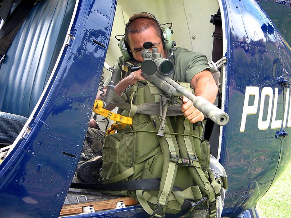 Радиус поражения полицейского снайпера редко превышает 200 метров