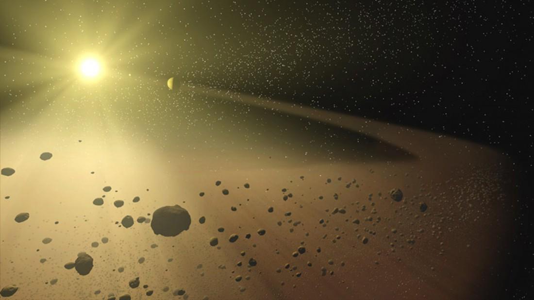 Самый крупный показатель диаметра пояса астероидов - 950 км