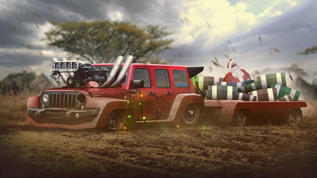 Jeep Wrangler — для езды по африканским равнинам
