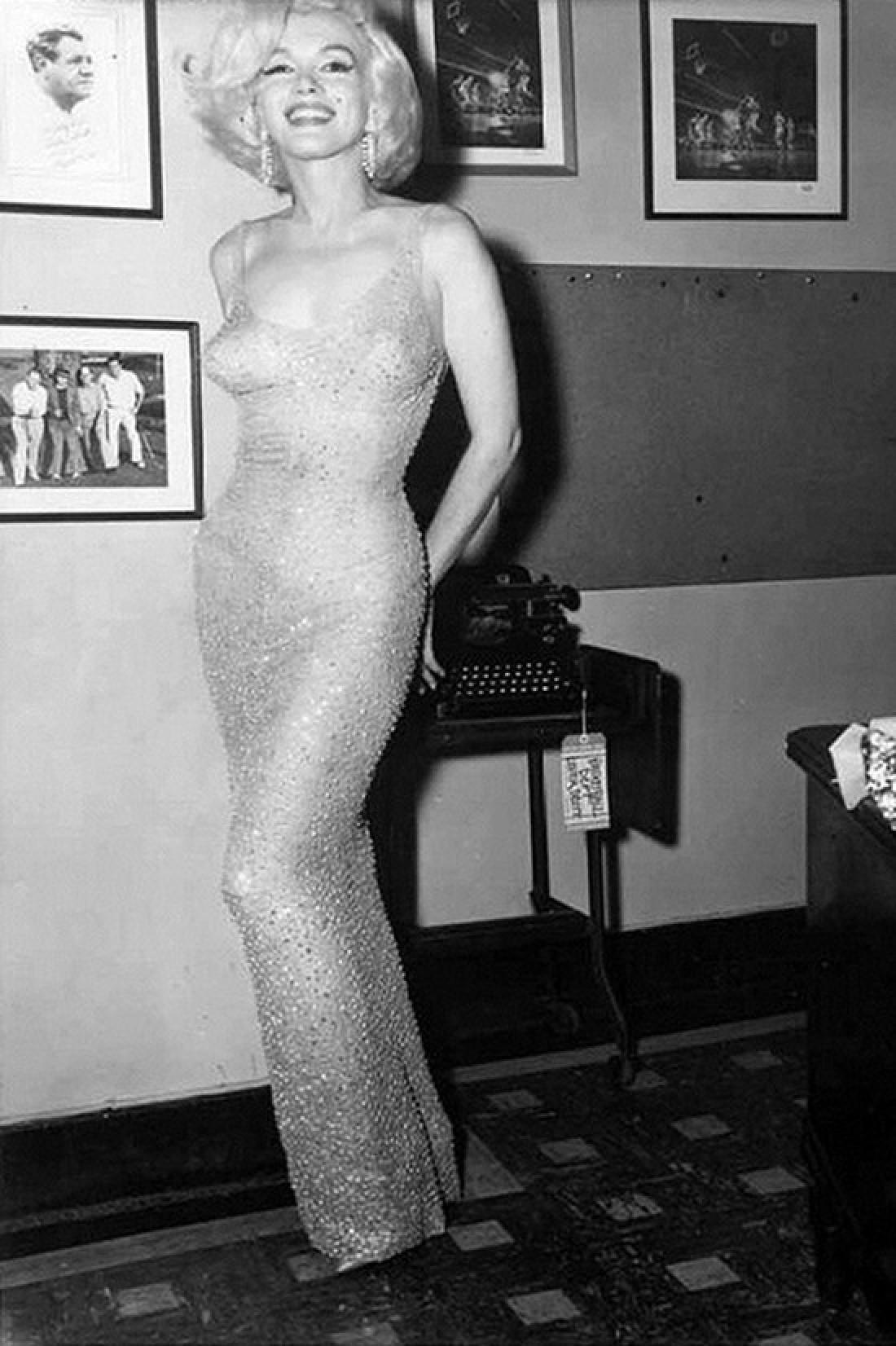 Мэрилин Монро в первом «голом» платье, 1962 год