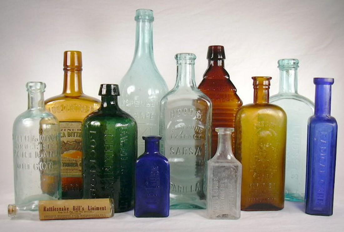 Бутылки для спиртного бывают разные