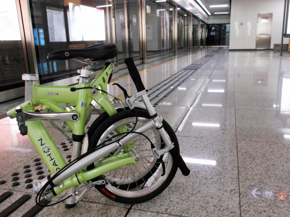 Со складным велосипедом можно ездить в метро