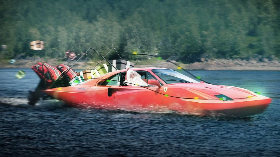 Ferrari F40 — для речной езды