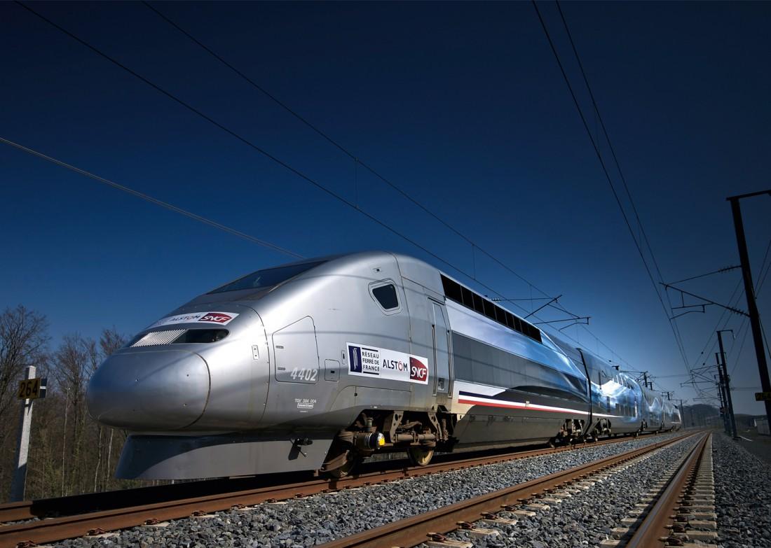 TGV POS V150. 3 апреля 2007 установил рекорд скорости — почти 574,8 км / час