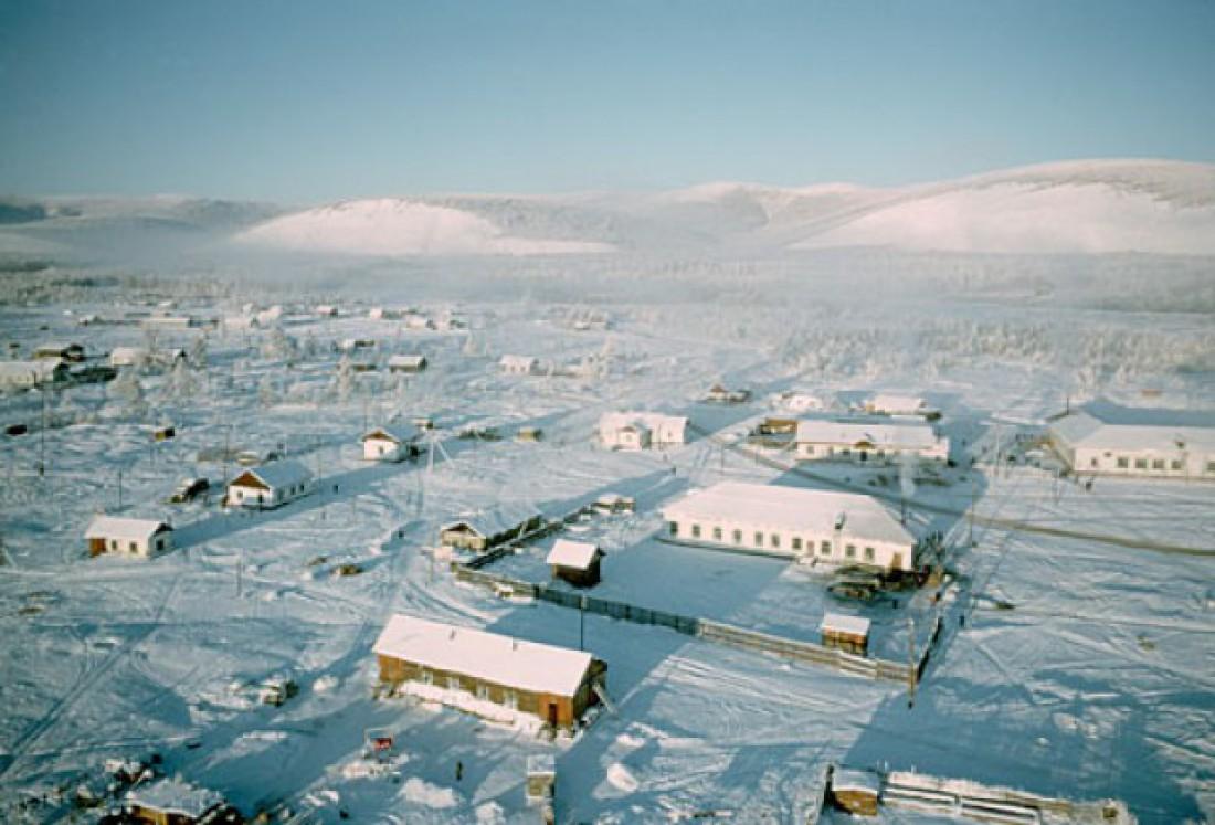 Оймякон, Россия. В 2010-м население деревни составляло 462 человека