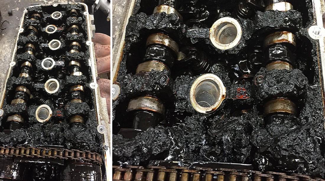 Вот что остается от двигателя, если не менять в нем масло