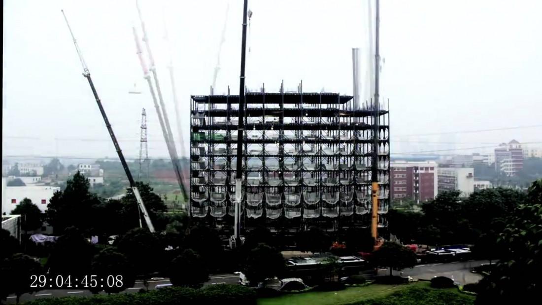 Кадр с еще не построенным Ark Hotel