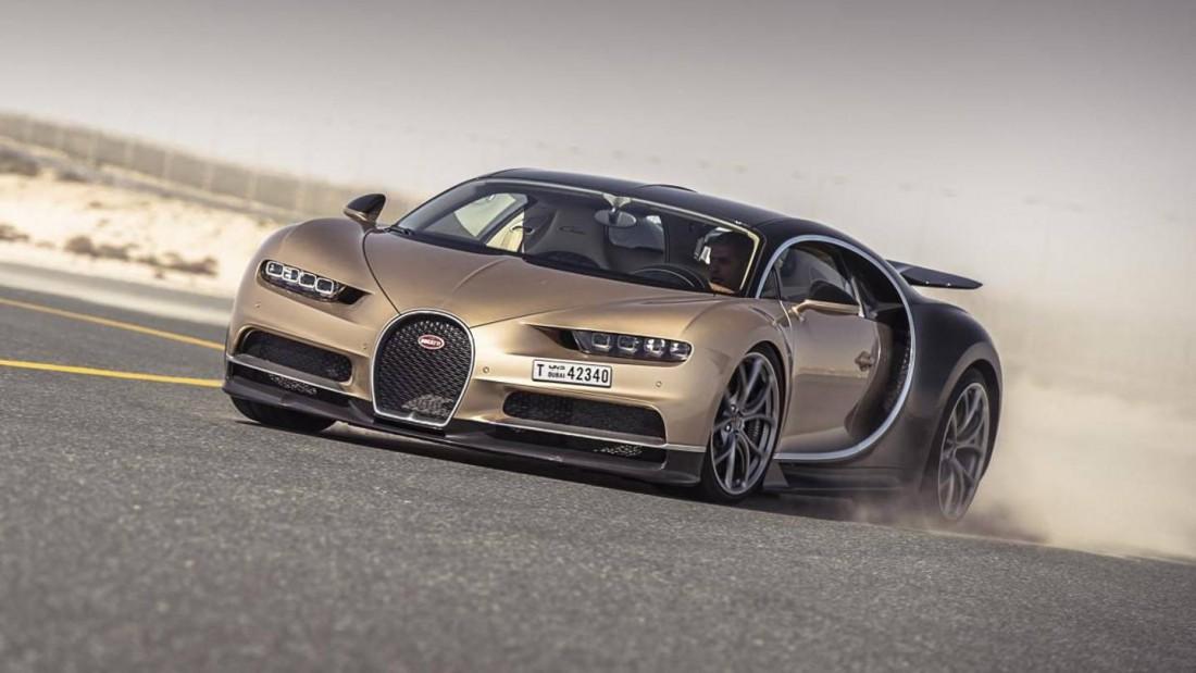 Расход топлива Bugatti Chiron по городу — 26,1 литра / 100 км