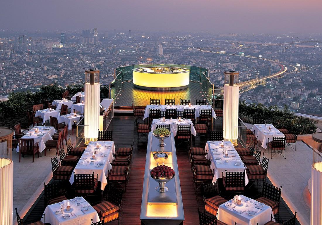 Вид на Бангкок, открывающийся из Sky Bar