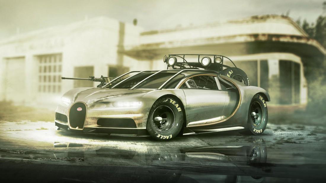 Bugatti Chiron. Зарыться в снегу и не видеть этой печали