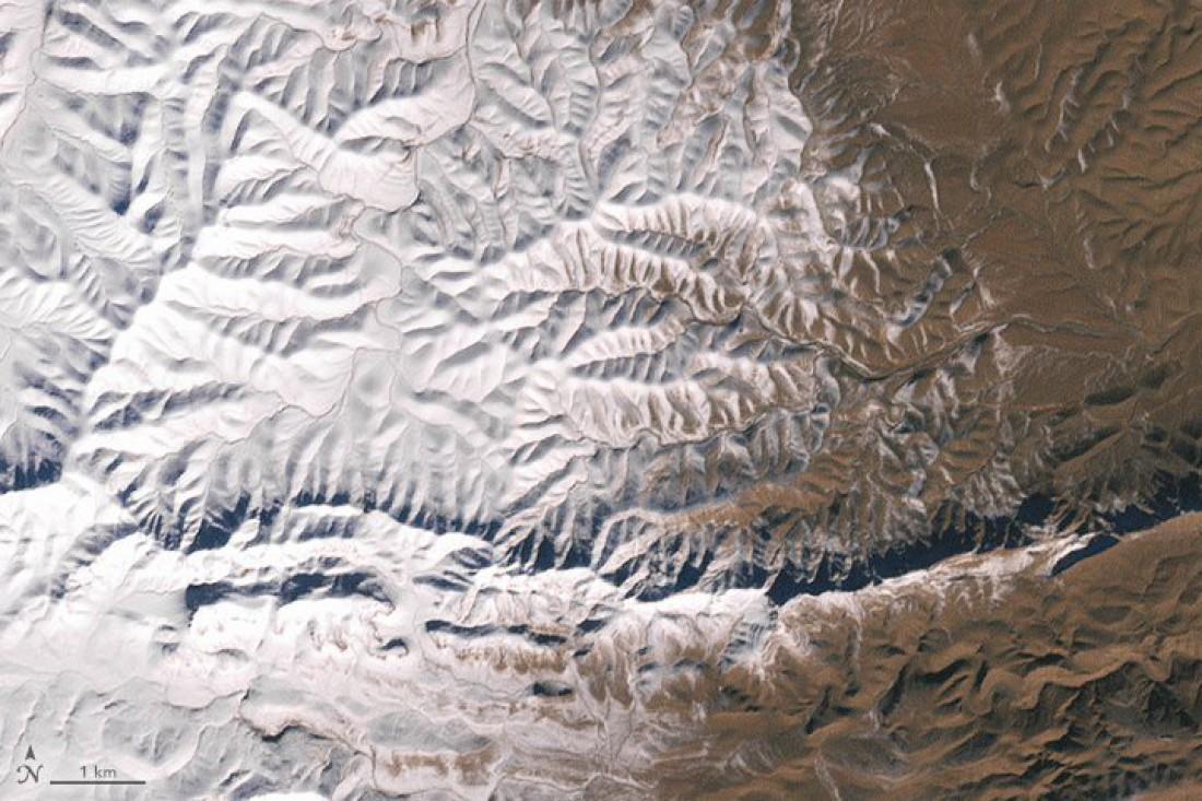NASA опубликовало спутниковое фото заснеженной Сахары