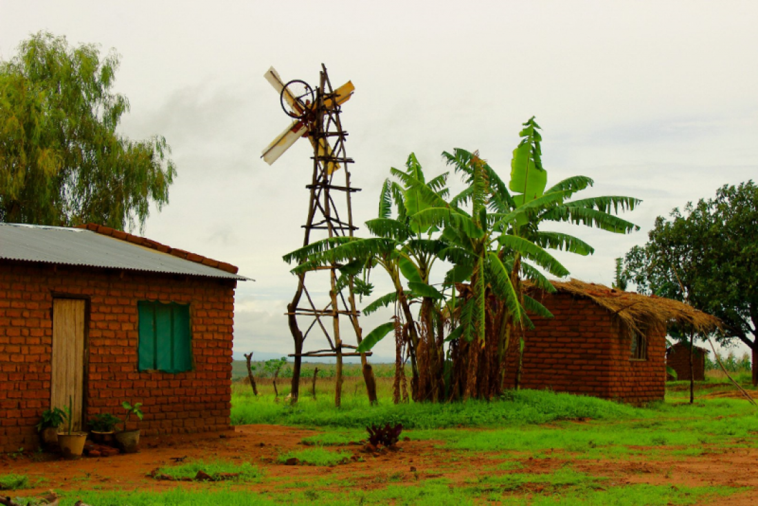 Одна из ветряных мельниц Уильяма Камкуамба