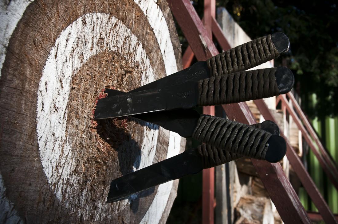 Умеешь правильно метать нож - умеешь поражать цель на расстоянии