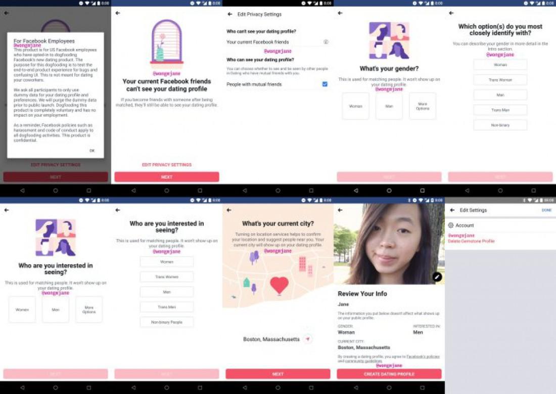 Скриншоты приложения, которые слили в сеть сотрудники Facebook