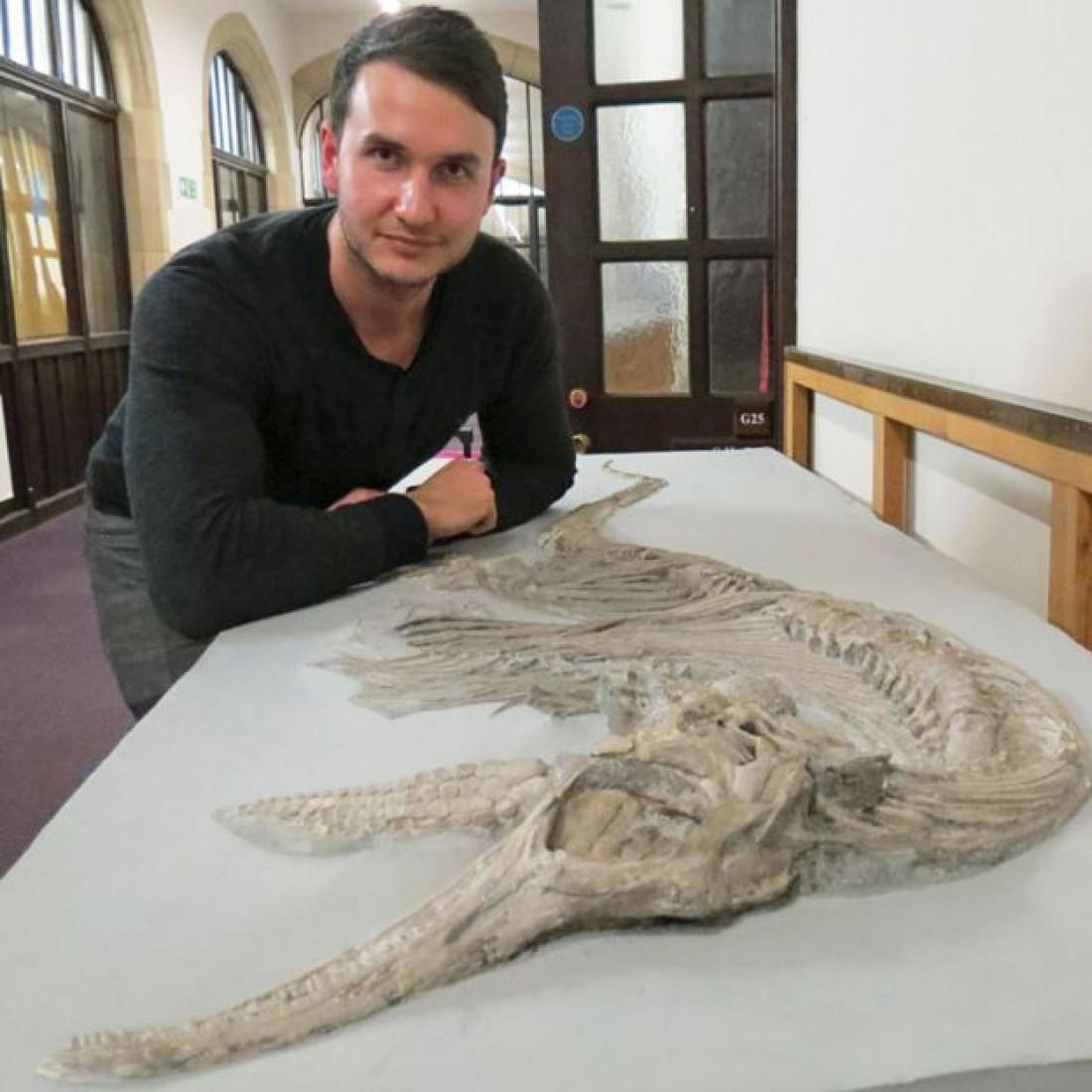 Дин Ломакс с бристольскими окаменелостями