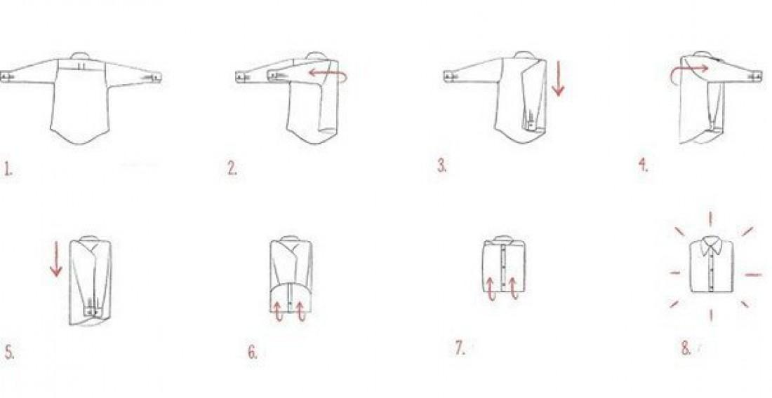 Как правильно сложить рубашку – смотри, учись, и будь стильным