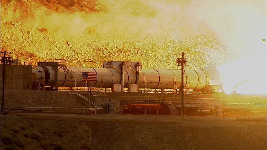 Запуск движка Space Launch System