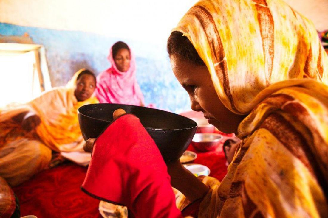 В Мавритании дам заставляют пить противное жирное верблюжье молоко