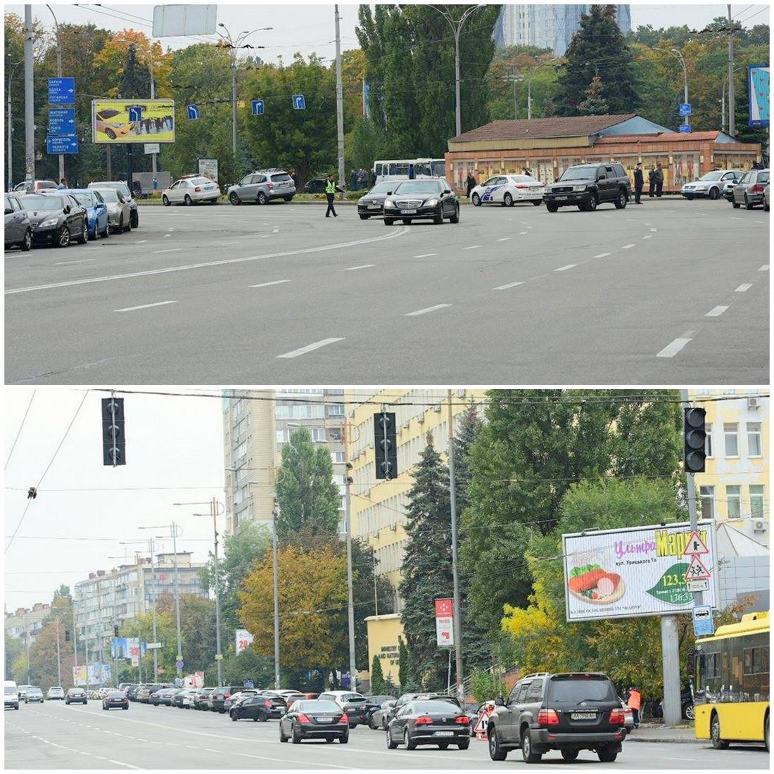 Кортеж Авакова нарушает правила дорожного движения