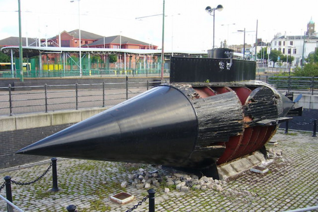 Памятник крайне нестабильной подлодке Resurgam
